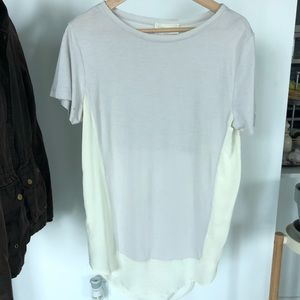 Zara Hi-Low Two Tone T-Shirt